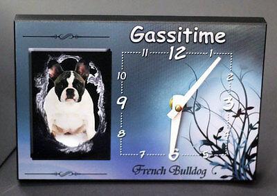 French Bulldog   - Uhr - Tischuhr -Wanduhr - Neu