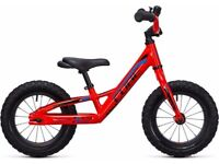 Kids cube balance bike blue and pink. Well looked after