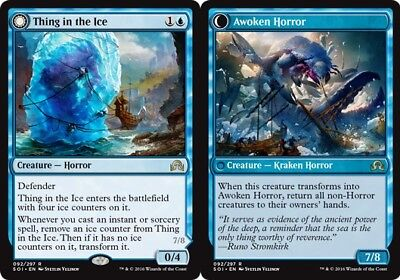1X  Thing In The Ice    Awoken Horror  X1  Shadows Over Innistrad Near Mint  En