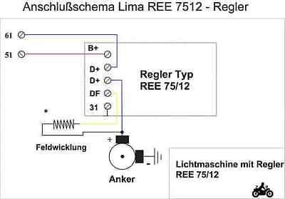 Traktorregler REE 75//12 12 V Regler Schlepperregler