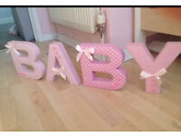 Baby freestanding letters for nursery