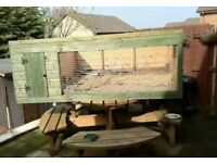Large outdoor hutch.