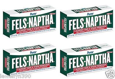 (4) Fels-Naptha 5.5oz Bars for Making Homemade Laundry Soap