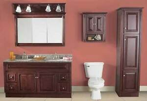 GREAT SELECTION OVER 200 VANITIES IN STOCK READY TO GO! ALL WOOD