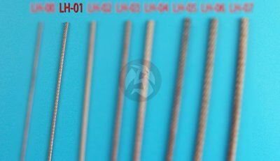 Eureka XXL Braided Metal Wire Rope Ø 0.60mm Tow Cable for AFV kits (50cm) LH-01 for sale  Shipping to India