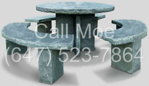 Outdoor Stone Bench Stone Table Stone Furniture