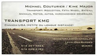 Transport - roulottes et fifth wheel