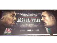 2x FLOOR Anthony Joshua vs Carlos Takam tickets (was Pulev)