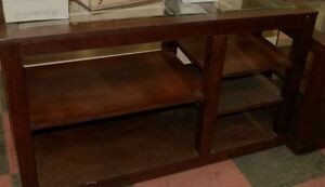 Rustic Wood Sofa Table & Side Table