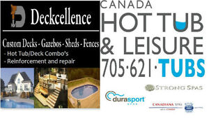 DECK & HOT TUB PACKAGES ***BOOK NOW!!!!!!***