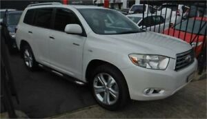 2008 Toyota Kluger GSU40R Grande (FWD) White 5 Speed Automatic Wagon Burwood Whitehorse Area Preview