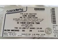 King Gizzard and The Lizard Wizard Tickets - London O2 Forum Kentish Town - 4 tickets available