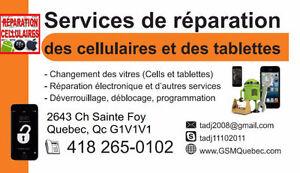 Réparation des cellulaires et des tablettes, bas prix garantie