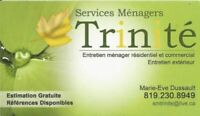 Services ménagers à partir de 45$/Cleaning service from 45$