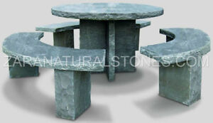 Outdoor Patio furniture Stone Bench Stone Table Stone Furniture