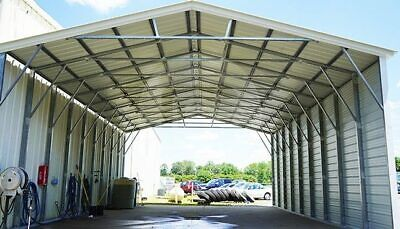 3041 Vertical Roof Steel Carport - Free Shipping Installation
