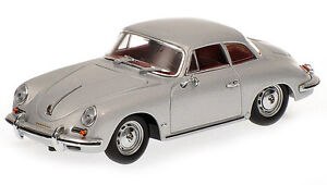 1961-PORSCHE-356-B-COUPE-SILVER-1-43-DIECAST-MODEL-CAR-BY-MINICHAMPS-400064321