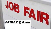 * JOB FAIR TODAY * 8am -2pm - FULL-TIME JOBS ONLY!