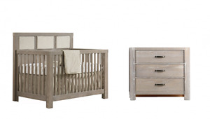 Sugarcane Rustico Crib and 3 Drawer Dresser on SALE!