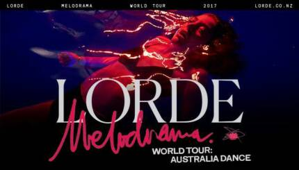 LORDE HARD COPY TICKETS @ SIDNEY MYER MUSIC BOWL MELBOURNE 26/11