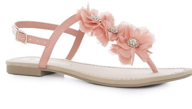 Chiffon Flower Sandals