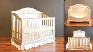 Bratt Decor Antique Silver Crib