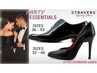 Black Tie? Stylish heels small size 0, 0.5, 1, 2 large size 9, 9.5, 10, 11, 12