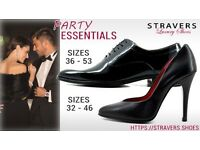 Formal men's shoes large sizes 12, 13, 13.5, 14, 15 small size 3, 4, 5, 6 - patent leather