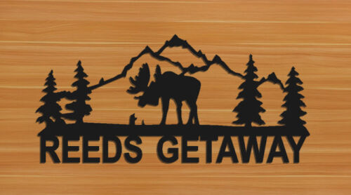 PERSONALIZED MOOSE WALL HANGINGS - CLINGERMANS
