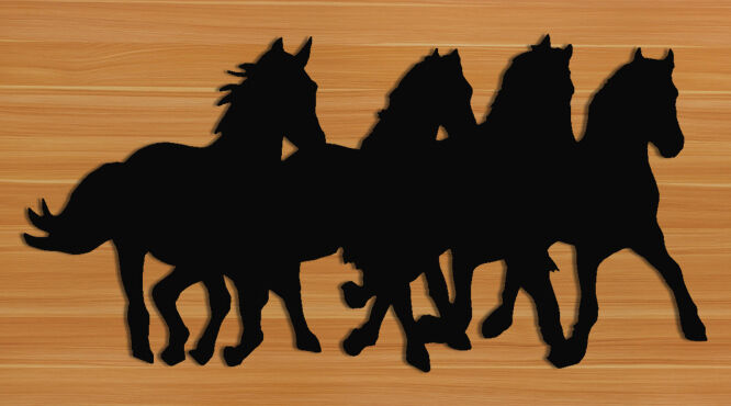 EQUESTRIAN WALL HANGING - HORSES - WESTERN DECOR - SADDLES - HALTERS