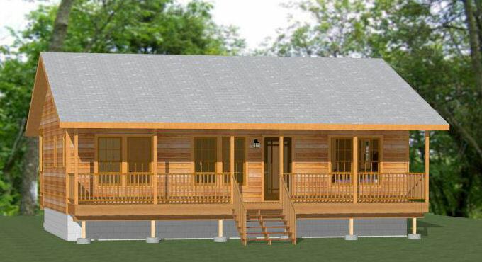 36x24 House -- 2 Bedroom 2 Bath -- 864 sq ft -- PDF Floor Plan -- Model 3F