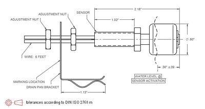 Universal Bracket Float Switch / Condensate 24V HVAC Secondary Switch - $7.25