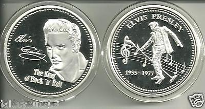 "ELVIS PRESLEY""THE KING OF ROCK N' ROLL""  SILVER COLLECTOR COIN    on Rummage"