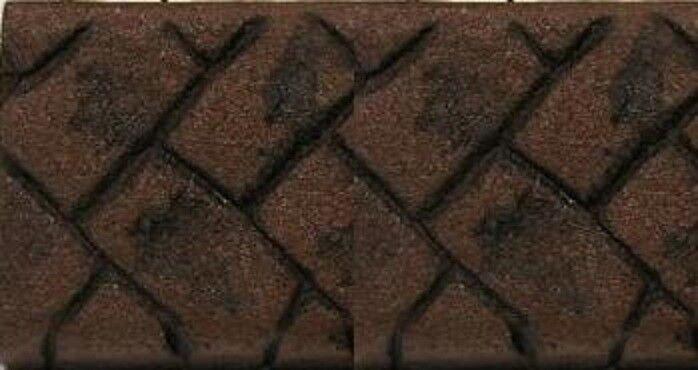 Concrete cement Landscape Curbing Cobblestone Imprint Texture Pattern Roller New