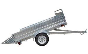 New 5x7 Mighty Multi Utility Trailer Galvanized