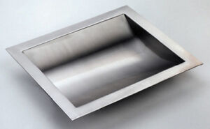 Stainless Steel Drop-In Deal Tray, Brushed Finish, 12