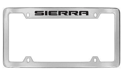 Gmc Sierra 2012 16 Chrome Plated Brass Metal License Plate Frame Holder