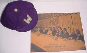 Antique 1950s University Western London Ontario Beanie & book