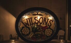 manager for Wilson's restaurant needed ASAP! Competitive salary, great tips.