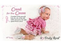 Ashton Drake Collectable Baby Crawl for a Cause Doll