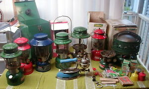 Collectible Coleman Lanterns,Backpack Stove,Heater,Iron,Parts