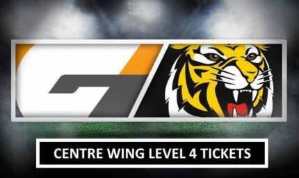 2 x RICHMOND vs GWS AFL FINALS TICKETS MCG (CENTRE WING LEVEL 4)