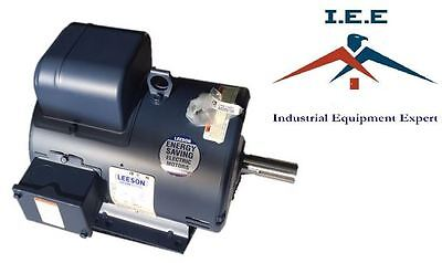 5 Hp Single Phase Leeson Electric Compressor Motor 184t Frame C184k17db31a 230 V