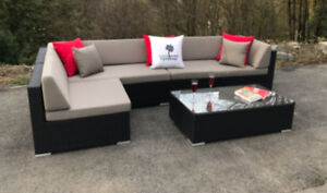 4 Piece Classic L Sectional and Table