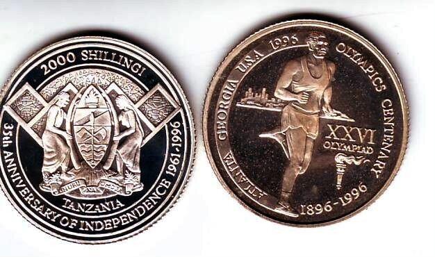 Ex.Rare 1996 Tanzania Silver 2000s pattern Decathlon T2