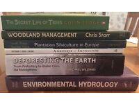 Environmental University Textbooks/Non-Fiction Books (forestry, hydrology)