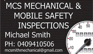 Mobile Safety Inspection  - MCS Mechanical and Safety Inspections Hope Island Gold Coast North Preview