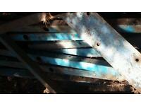 Scrap Metal steel fence posts old