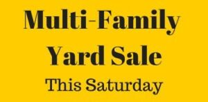 Armstrong Multi Family Garage Sale!!!