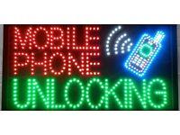 Mobile phone unlocking